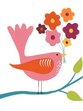 Cute Bird III by Regina Moore