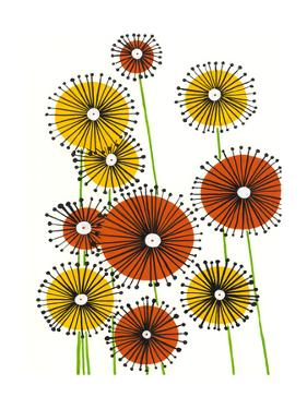 Flower Wheels I by Regina Moore