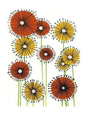 Flower Wheels II by Regina Moore