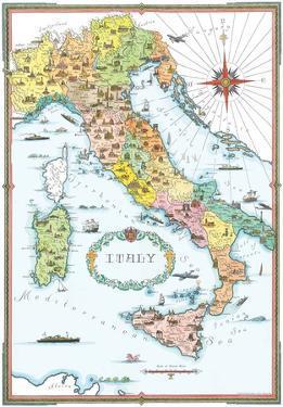 Regions Of Italy Map