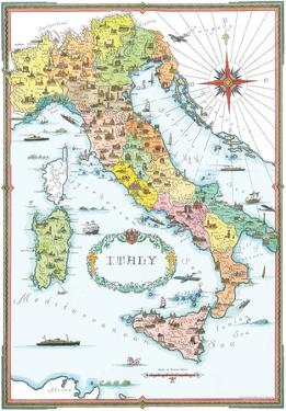 Regions Of Italy Map