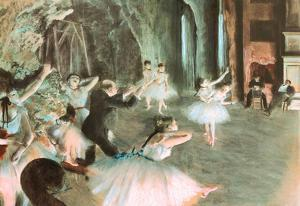 Rehearsal on Stage Edgar Degas Art Print Poster