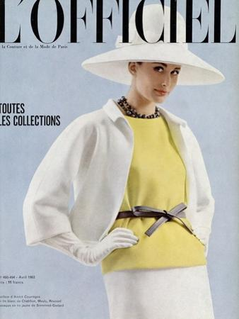 L'Officiel, April 1963 - Tailleur d'André Courrèges