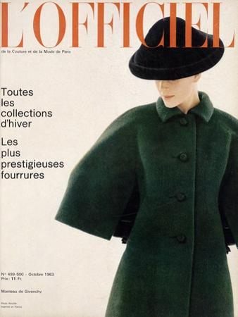 L'Officiel, October 1963 - Manteau de Givenchy
