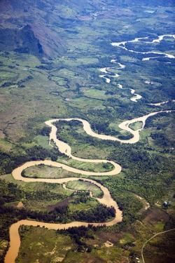 Meandering Wamena River, Baliem Valley, West Papua, Indonesia by Reinhard Dirscherl