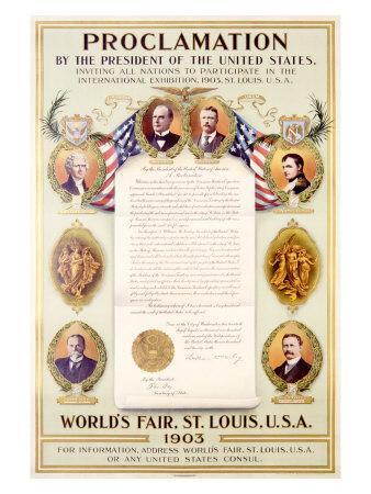 Presidents Proclamation at 1903 World's Fair