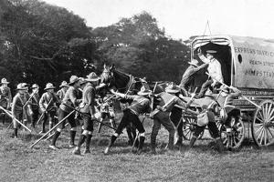 Boy Scouts with Van on Hampstead Heath, London by Reinhold Thiele