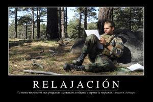 Relajación. Cita Inspiradora Y Póster Motivacional