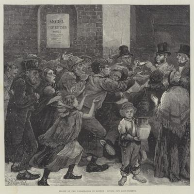 Relief of the Unemployed in London, Giving Out Soup-Tickets