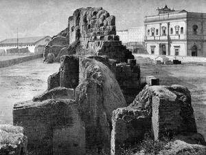 Remains of the Servian Wall Near the Railway Station, Rome, 1902 by O Schulz