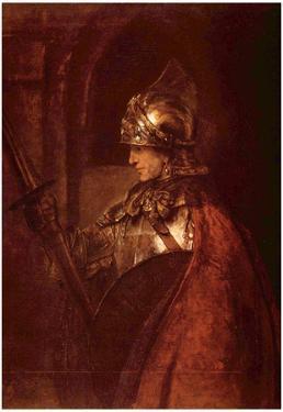 Rembrandt Harmensz. van Rijn (Man with arms (Alexander the Great)) Art Poster Print