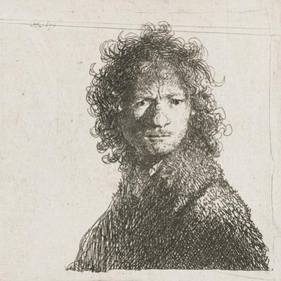 Self-Portrait Frowning, 1630 by Rembrandt Harmensz. van Rijn