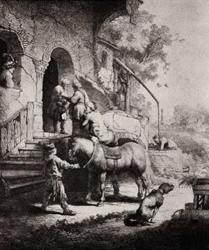 Rembrandt Harmensz. van Rijn (The Good Samaritan) Art Poster Print