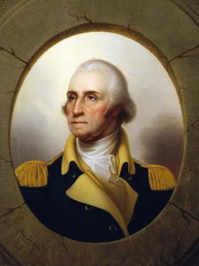 George Washington (Porthole Portrait) by Rembrandt Peale