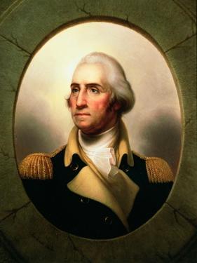 Porthole Portrait of George Washington, 1795 by Rembrandt Peale