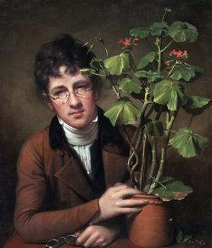 Rubens Peale with a Geranium by Rembrandt Peale