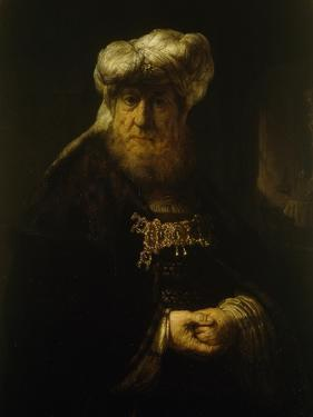 A Man in Oriental Costume by Rembrandt van Rijn