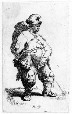 A Man Urinating, 1631 (Eching) by Rembrandt van Rijn