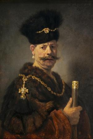 A Polish Nobleman, 1637 by Rembrandt van Rijn