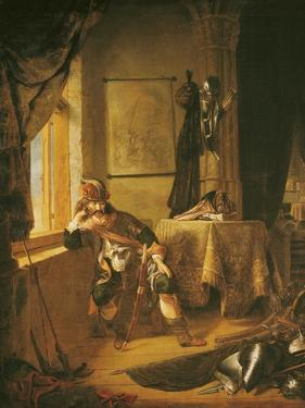 A Warrior in Thought by Rembrandt van Rijn