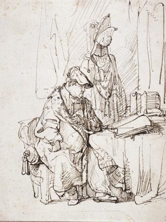 An Actor in His Dressing Room by Rembrandt van Rijn