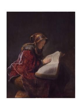 Anna the Prophetess, 1631 by Rembrandt van Rijn