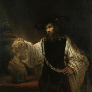 Aristotle (384-322 BC) with a Bust of Homer, 1653 by Rembrandt van Rijn