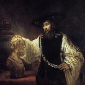 Aristotle before the Bust of Homer, 1653 by Rembrandt van Rijn