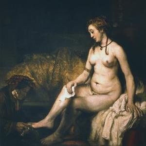 Bathsheba at Her Bath , 1654 by Rembrandt van Rijn