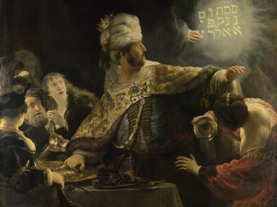 Belshazzar's Feast, Ca 1637 by Rembrandt van Rijn