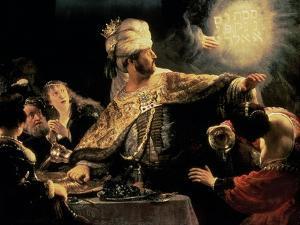 Belshazzar's Feast circa 1636-38 by Rembrandt van Rijn