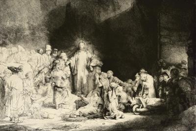 Christ Healing the Sick, 'The Hundred Guilder Print', C. 1649 by Rembrandt van Rijn