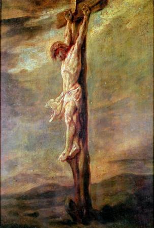Christ on the Cross, circa 1646 by Rembrandt van Rijn