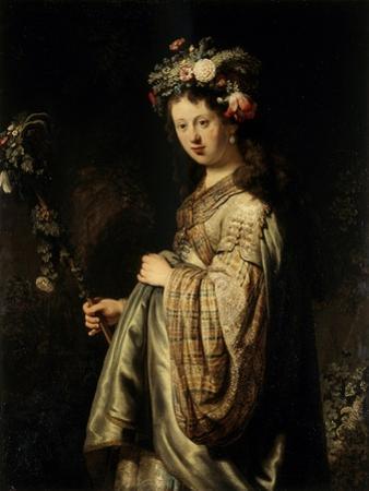 Flora, 1634 by Rembrandt van Rijn