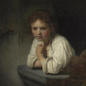 Girl at a Window, 1645 by Rembrandt van Rijn