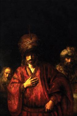 Haman in Disgrace by Rembrandt van Rijn