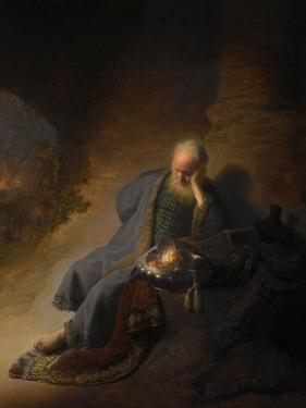 Jeremiah Lamenting the Destruction of Jerusalem, 1630 by Rembrandt van Rijn