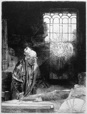 Magician at Work, Doctor Faustus by Rembrandt van Rijn