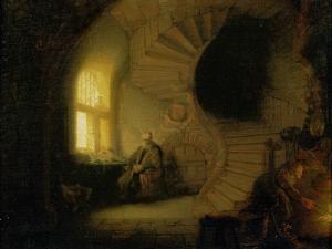Meditating Philosopher, 1632 by Rembrandt van Rijn