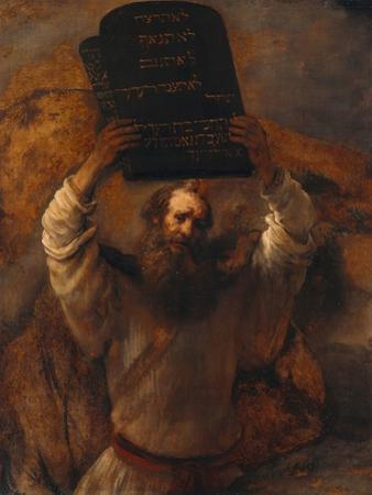 Moses with the Ten Commandments, 1659 by Rembrandt van Rijn
