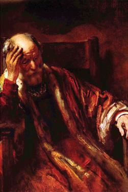 Old Man in the Armchair 3 by Rembrandt van Rijn