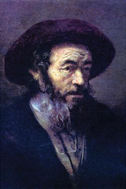 Old Man with a Fur Cap by Rembrandt van Rijn