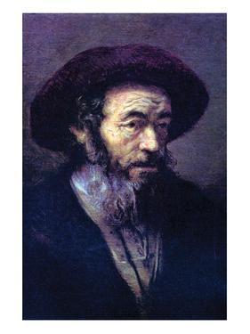 Old Man with a Fur Cap by Rembrandt van Rijn