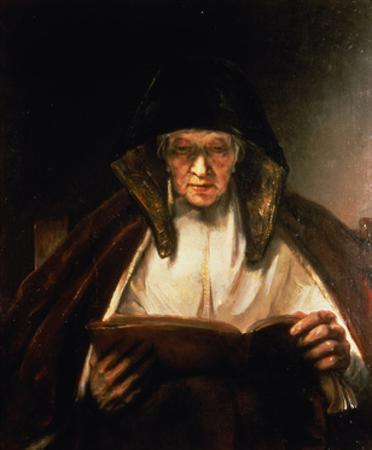 Old Woman Reading by Rembrandt van Rijn