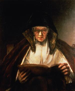 Old Woman Reading by Rembrandt van Rijn