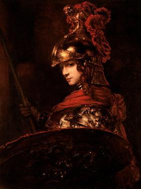 Pallas Athena Or, Armoured Figure, 1664-65 by Rembrandt van Rijn