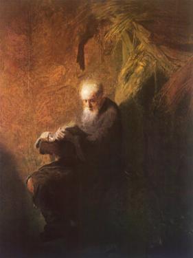 Philosopher Reading by Rembrandt van Rijn