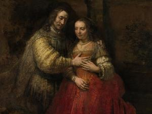 Portrait of a Couple as Isaac and Rebecca, known as 'The Jewish Bride' by Rembrandt van Rijn