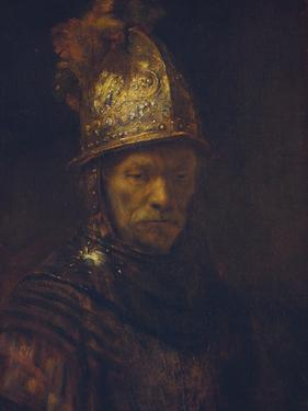 Portrait of a Man with a Golden Helmet, C. 1650-55 by Rembrandt van Rijn