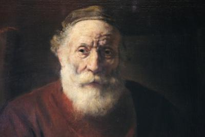 Portrait of an Old Man in Red, 17th Century by Rembrandt van Rijn
